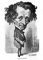 Hector Berlioz (1803-1869), French composer. Caricature by Etienne Carjat.  © Roger-Viollet