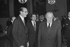 Jacques Chirac (born in 1932), mayor of Paris, greeting Janos Kadar (1912-1989), General Secretary of the Hungarian communist party. Paris, November 1978. © Jacques Cuinières / Roger-Viollet