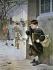 "Jean Geoffroy (1853-1924). ""En retenue"". Aquarelle. © Roger-Viollet"
