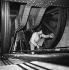 Maintenance of the Eiffel Tower lift. Paris, September 20, 1954. © Roger Berson / Roger-Viollet