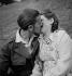 Kissing couple. Sarreguemines (Moselle), on June 29, 1949. © Roger Berson/Roger-Viollet