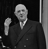 Charles de Gaulle (1890-1970), President of the French Republic, at the Elysee Palace. Paris, on February 7, 1966. © Roger-Viollet