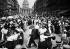 Bal du 14 juillet devant le Panthéon, rue Soufflot, Paris (Vème arr.). 1912. © Maurice-Louis Branger/Roger-Viollet