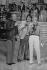 Serge Lama, Guy Lux et Sophie Darel. Emission de télévision, octobre 1981. © Carlos Gayoso / Roger-Viollet