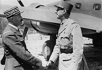World War II. First meeting between de Gaulle and Giraud. Algiers (Algeria), on March 30, 1943. © Roger-Viollet