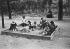 Children playing in a sandpit. Paris, Jardin des Plantes (botanical garden), 1911. © Maurice-Louis Branger/Roger-Viollet