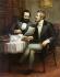 "Hans Mocznay. ""Karl Marx (1818-1883) et  Friedrich Engels (1820-1895), hommes politiques et théoriciens socialistes allemands"". Berlin (Allemagne), musée historique allemand (Deutsches Historisches Museum). © Ullstein Bild / Roger-Viollet"