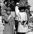Yvonne de Gaulle, wife President Charles de Gaulle, and Farah Dibah, wife of  Shah Reza Pahlavi. Iran, October 1963. © Roger-Viollet