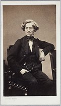 Visiting card of Hector Berlioz (1803-1869), French composer. Photograph by Pierre Petit (1832-1909). Paris, musée Carnavalet.  © Lanith / Musée Carnavalet / Roger-Viollet