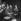 Charles Trenet (1913-2001), chanteur et auteur-compositeur français, Eddy Mitchell (né en 1942), chanteur français, et son groupe Les Chaussettes noires. Paris, Olympia, mai 1963. © Studio Lipnitzki / Roger-Viollet