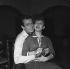 """Shooting of """"Les femmes sont marrantes"""", film by André Hunebelle (1958). Sophie Daumier and Pierre Dudan. Paris, December 1957. © Alain Adler / Roger-Viollet"""