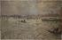 """Ferdinand Gueldry (1858-1945). """"L'Estacade de l'île Saint-Louis, le 28 janvier 1910"""". Huile sur toile. 1910. Paris, musée Carnavalet. © Musée Carnavalet / Roger-Viollet"""