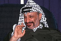 Yasser Arafat (1929-2004), head of the Palestine Liberation Organization, at the Palestinian National Council. Algiers (Algeria), November 1988. © Françoise Demulder / Roger-Viollet