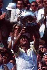 Yannick Noah, joueur de tennis français, vainqueur des Internationaux de France à Roland-Garros. Paris, 5 juin 1983. © Tommy Hindley / TopFoto / Roger-Viollet