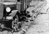 """Guerre sino-japonaise (1937-1941). La """"Route de la mort"""", dans la région de Pékin. © Roger-Viollet"""