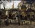 Vincent Van Gogh (1853-1890). Terrace of a café on Montmartre (La Guinguette). Paris, October 1886. Paris, musée d'Orsay.  © Roger-Viollet