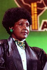 Winnie Mandela (1936-2018), épouse de Nelson Mandela (1918-2013), membre actif de l'ANC (Congrès National Africain). Photographie prise lors de son action pour la libération de son mari condamné à perpétuité pour des raisons politiques. 27 avril 1990. © TopFoto / Roger-Viollet