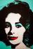 """Andy Warhol (1928-1987). """"Elizabeth Taylor"""". Portrait colorisé, mis aux enchères chez Christie's en 2007. © TopFoto / Roger-Viollet"""