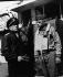 Guerre 1939-1945. Débarquement de Normandie. Alan Goodrich Kirk (1888-1963), diplomate et amiral de la marine américaine, et Omar Bradley (1893-1981), général américain, sur le pont d'un croiseur américain se dirigeant vers la France, 9 juin 1944. © TopFoto / Roger-Viollet