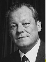 Willy Brandt (1913-1992), homme politique allemand (SPD), chancelier de 1969 à 1974. 1972. © Ullstein Bild / Roger-Viollet