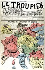 """""""Influence de l'influenza sur l'Europe"""". Epidémie de grippe. """"Le Troupier"""" en 1889.       © Roger-Viollet"""