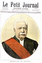 """Ferdinand de Lesseps (1805-1894), French diplomat and administrator. """"Le Petit Journal"""", on December 16, 1894.     © Roger-Viollet"""