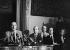 Jacques Chirac (né en 1932), maire de Paris. A droite : Alain Juppé et Jean Tiberi. 1er juillet 1982. © Jean-Pierre Couderc/Roger-Viollet