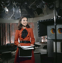 Denise Fabre, announcer of French television. © Roger-Viollet