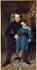 """Auguste de Chatillon (1813-1881). """"Portrait de Victor Hugo et de son fils François-Victor"""". Huile sur toile, 1836. Paris, Maison de Victor Hugo.  © Maisons de Victor Hugo / Roger-Viollet"""