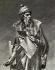 Johannes Gensfleisch Gutenberg (entre 1397 et 1400-1468), imprimeur allemand. Détail de la reproduction d'une sculpture de Juan María Danielli. Gravure, 1894.   © Iberfoto / Roger-Viollet