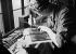 Paper mills. Publishing industry. Binding. Gold gilding. Estienne school. Paris (XIIIth arrondissement), 1931-1934. Photograph by François Kollar (1904-1979). Paris, Bibliothèque Forney. © François Kollar/Bibliothèque Forney/Roger-Viollet