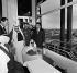 Abd Al-Aziz III Ibn Saud of Arabia, visiting the Eiffel Tower. Paris, on March 20, 1963. © Roger-Viollet