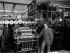 Appareil plieur d'une machine deux couleurs. Imprimerie Pigelet, 1911. © Jacques Boyer / Roger-Viollet