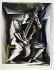 """Ossip Zadkine (1890-1967). """"La Contrebasse"""". Gouache sur papier vélin, s.d.b.d. : O. Zadkine 66. 1966. Paris, musée Zadkine.  © Musée Zadkine/Roger-Viollet"""