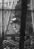 View of the café Les Deux-Magots, from Jean-Paul Sartre's apartment, in the district of Saint-Germain-des-Prés. Paris (VIth arrondissement). © Jack Nisberg / Roger-Viollet