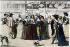 La galerie du Palais, vers 1640. Paris (Ier arr.). Gravure d'après Abraham Bosse.   © Roger-Viollet