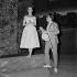 """Intermezzo"", play by Jean Giraudoux. Direction : Jean-Louis Barrault. Simone Valère and Jean Desailly. Paris, Théâtre Marigny, March 1955. © Studio Lipnitzki / Roger-Viollet"