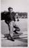 Missak Manouchian (1906-1944), Armenian poet and resistance fighter, posing near the pond of the Tuileries Garden. Paris (Ist arrondissement). © Archives Manouchian / Roger-Viollet