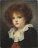 """Jean-Baptiste Greuze (1725-1805). """"Petit garçon au gilet rouge, entre 1775 et 1780"""". Huile sur toile. Paris, musée Carnavalet.   © Musée Cognacq-Jay / Roger-Viollet"""