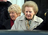 Margaret Thatcher (1925-2013), femme politique britannique, quittant sa maison de Chester Square, Belgravia. Londres (Angleterre), 14 janvier 2005. Photo : Rebecca Reid. © Rebecca Reid / TopFoto / Roger-Viollet