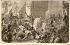 """Félix Philippoteaux (1815-1884) et Auguste Trichon (1814-1898). """"Henri IV se rendant à Notre-Dame, 1594"""". Estampe. Paris, musée Carnavalet. © Musée Carnavalet / Roger-Viollet"""