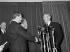 Meet among Harold Macmillan ( 1894-1986 ), British Prime Minister and Félix Strapping lad ( 1919-1970 ), president of council. Paris, November 25, 1957. © Roger-Viollet