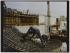 Opéra Bastille en construction, Place de la Bastille, architecte Carlos Ott, Paris (XIIème arr.). 1987. Photographie de Felipe Ferré. Paris, musée Carnavalet.  © Felipe Ferré / Musée Carnavalet / Roger-Viollet