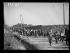 "Spanish Civil War (1936-1939). ""La Retirada"". A contingent of Spanish Republican militiamen arriving at the Argelès-sur-Mer camp (France), on February 7, 1939. Photograph from the Excelsior newspaper.$$$ © Excelsior - L'Equipe / Roger-Viollet"