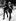Brian Jones (1942-1969), musicien anglais et guitariste des Rolling Stones, avec son manager Tom Keylock, après sa comparution au tribunal pour une affaire de drogue. Londres (Angleterre), 29 septembre 1968. © TopFoto / Roger-Viollet