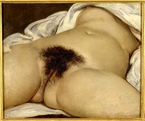 Gustave Courbet (1819-1877). The Origin of the World, 1866. Paris, musée d'Orsay.      © Roger-Viollet