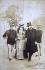 Le roi d'Italie Victor-Emmanuel III (1869-1947), son épouse, la reine Hélène de Monténégro (1873-1952) et Giovanni Giolitti (1842-1928), homme politique italien.  © Alinari / Roger-Viollet