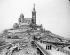 Footbridge to the Notre-Dame de la Garde basilica. Marseilles (France), circa 1900. © Neurdein/Roger-Viollet