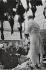 Man selling Christmas turkeys at Smithfield Market. London (England), 1958. © Jean Mounicq/Roger-Viollet