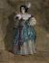 """Maurice Sand (1823-1889). """"Jeune fille en costume de fantaisie"""". Aquarelle. Paris, musée de la Vie romantique. © Musée de la Vie Romantique/Roger-Viollet"""